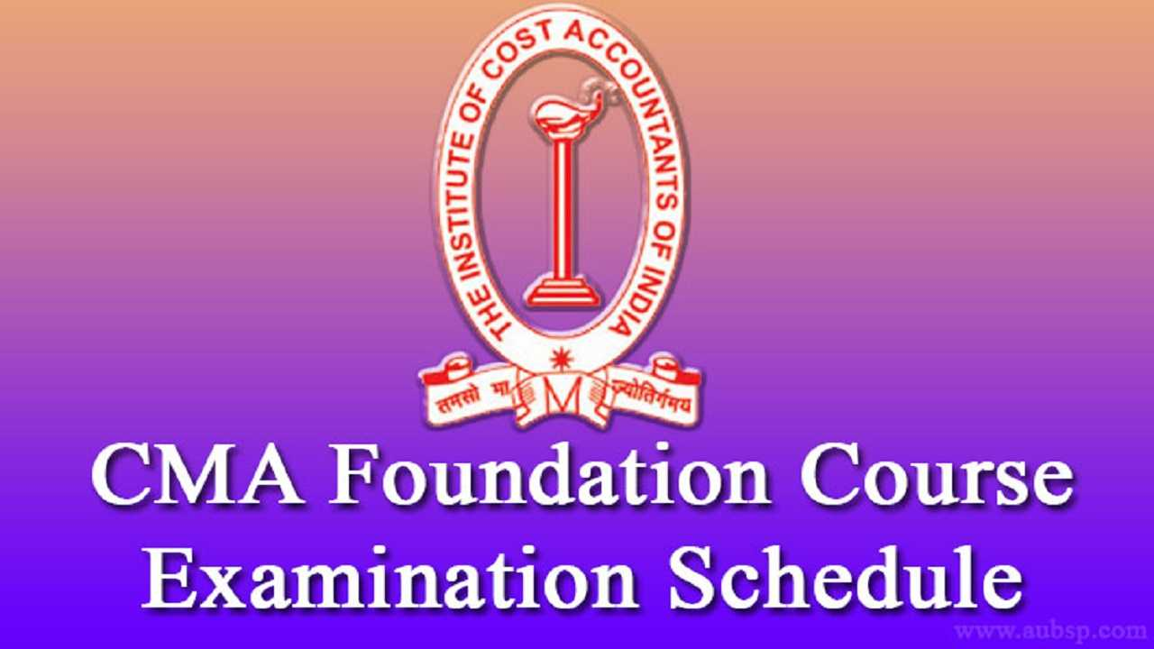 cma foundation time table june 2017  icwai exams 2017