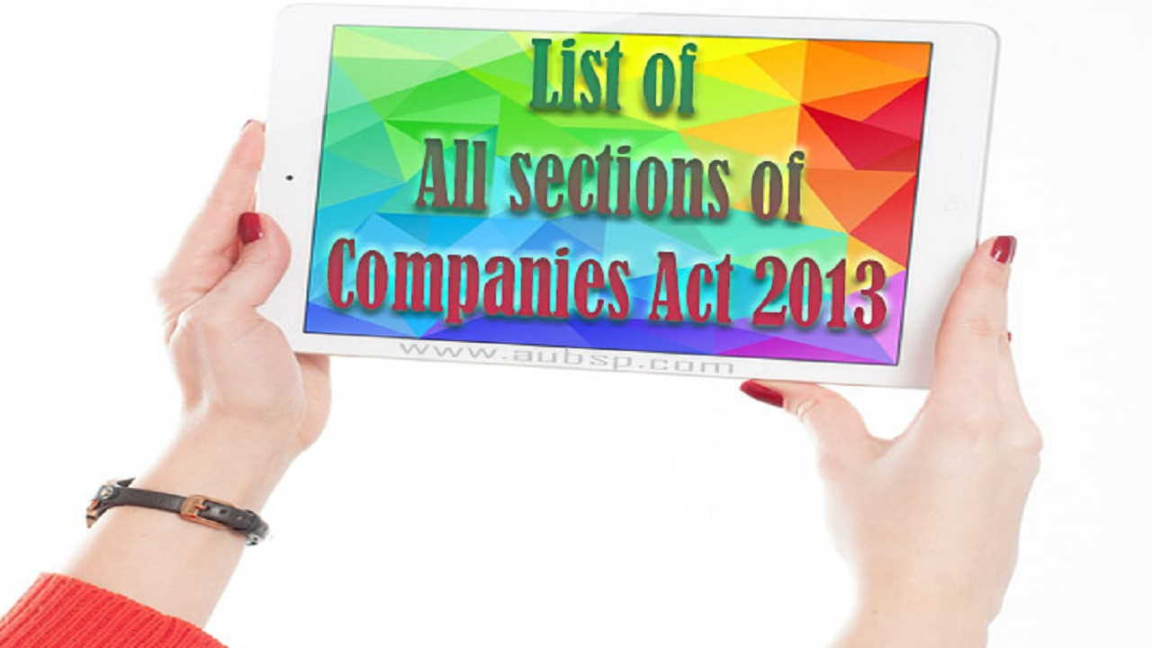 Complete list of Sections of Companies Act, 2013 on i-94 form blank, i-94 form example, i-94 uscis forms, i-94 card, i-94 print out,