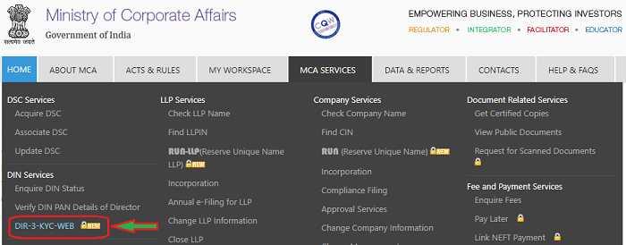 Online Filing of New Form DIR-3-KYC-WEB based Sept 2019 – AUBSP