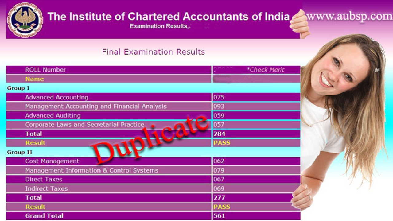 Download Online ICAI Duplicate Marksheet, Rank Certificates