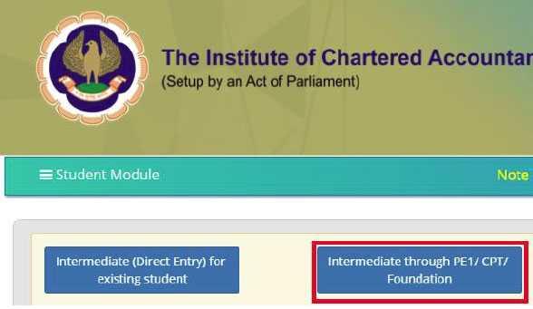 ICAI Direct Entry Registration Form