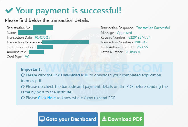 Icai Exam Payment Confirmation