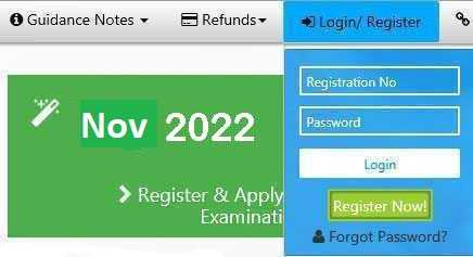 ICAI Exam Register Login