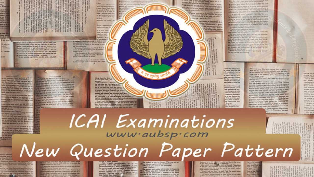 ICAI MCQ question paper pattern in CA Exams May/Nov 2019 ICAI