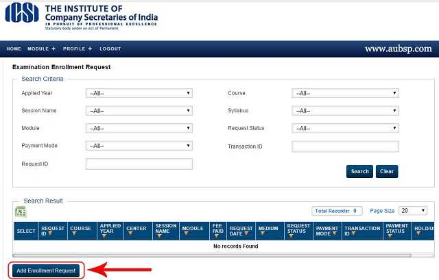 ICSI Add Enrollment Request